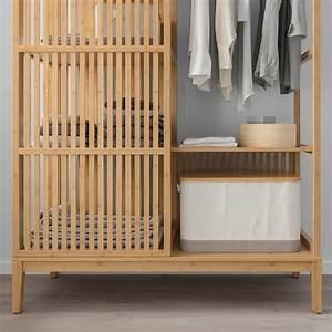 Kleiderschrank Ikea Kind : nordkisa kleiderschrank offen schiebet r bambus ikea ~ Watch28wear.com Haus und Dekorationen
