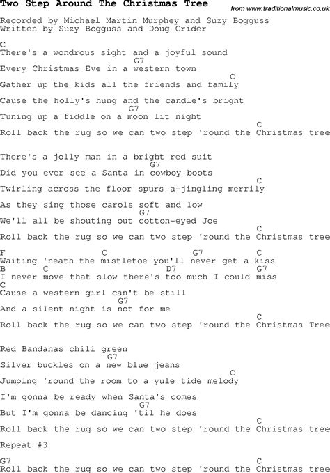 christmas carol song lyrics with chords for two step