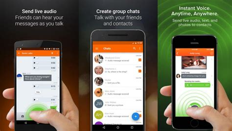 voxer for android 3 walkie talkie apps for smartphones via 3g and wireless wi fi