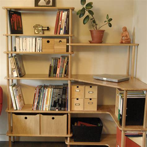 meuble bibliothèque bureau intégré espace de travail modulable modulotheque com
