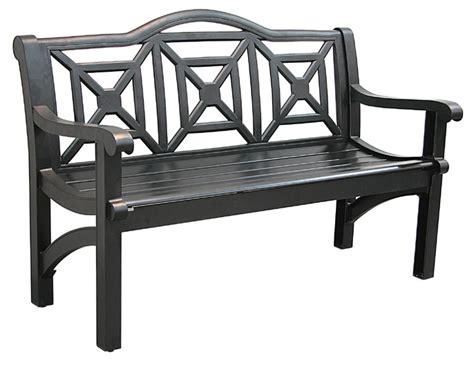 black outdoor bench black garden bench smalltowndjs