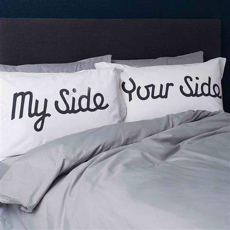 pillow talk pillows my side your side pillowcases decoholic