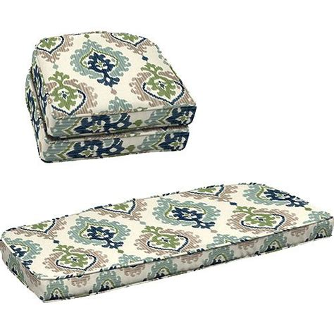 better homes and gardens 3 wicker cushion set ikat