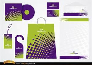 dotted stationery packaging design vector free download With design packaging online free