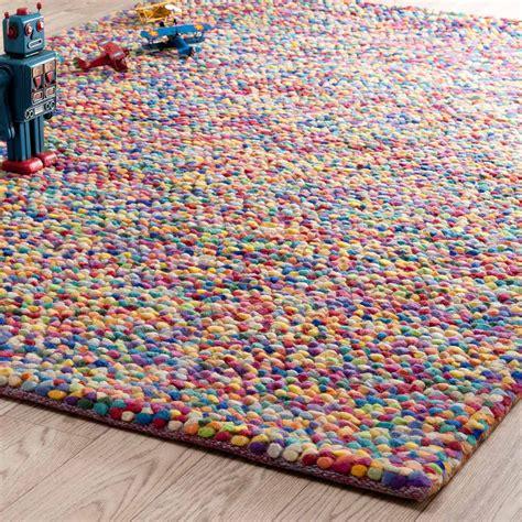 tapis en laine multicolore    cm rainbow maisons du monde