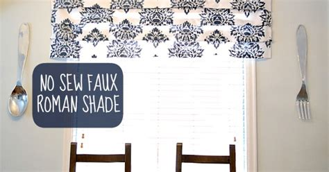 Diy Stenciled No Sew Faux Roman Shade Hometalk
