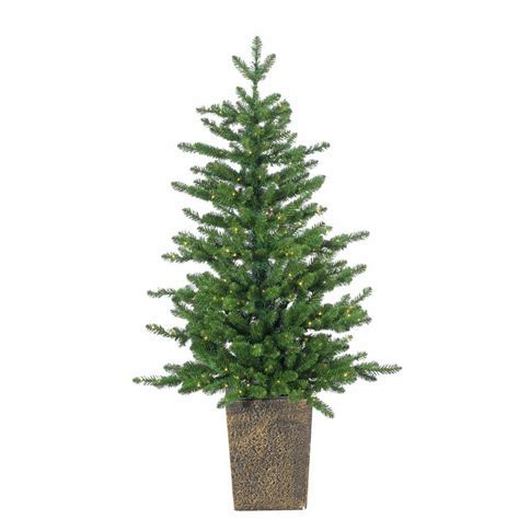 Sterling 4 ft. Pre Lit Potted LED Artificial Christmas