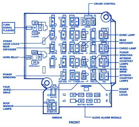 1982 Chevy Silverado Fuse Box by Chevrolet California Iroc 1989 Fuse Box Block Circuit