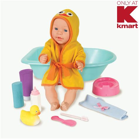 Kmart Childrens Bath Sets by Just Kidz 15 Quot Baby Doll With Bath Set
