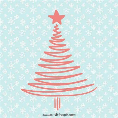 tarjeta de navidad con 225 rbol sencillo descargar vectores