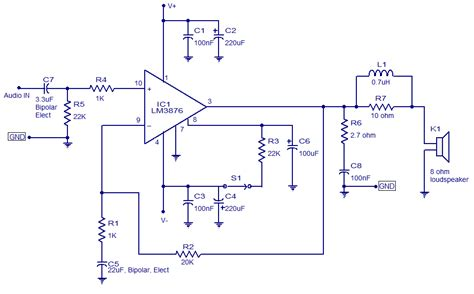 audio amplifier lm circuits projects