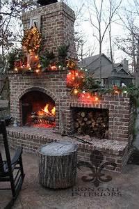 brick fireplace and fall decor LOVE