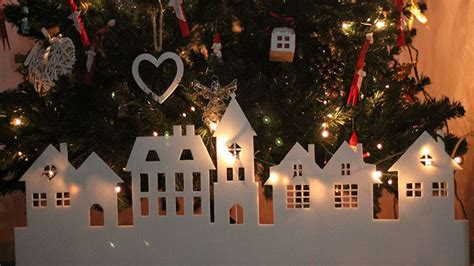 paper christmas village diy crafts