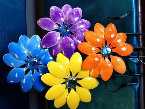 fiori con cucchiai di plastica lavoretti con cucchiai di plastica baby flash