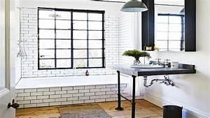 carrelage mural et sol tendance deco coolcom With carrelage adhesif salle de bain avec suspension led salon