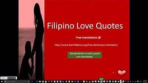 Tagalog Transla... Tagalog English Quotes