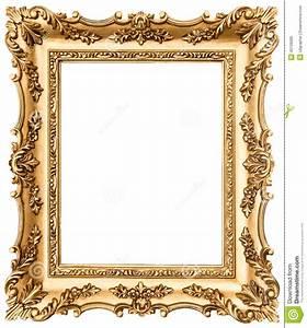 Cadre De Tableau : cadre de tableau d 39 or de vintage d 39 isolement sur le blanc ~ Dode.kayakingforconservation.com Idées de Décoration
