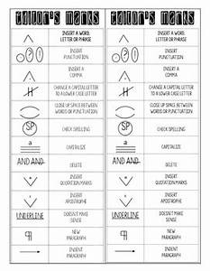 Proofreading Marks Chart Pdf Writing Process And Editing Marks Bookmark By Fairways And
