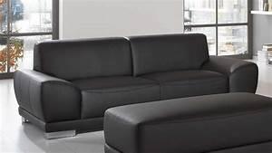 Sofa 2 3 Sitzer : ledersofa schwarz 3 sitzer ~ Bigdaddyawards.com Haus und Dekorationen