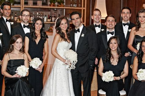 Modern Black & White Chicago Wedding With Hints Of Pink