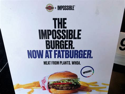 times are changing fatburger offers plant based impossible burger unchained news