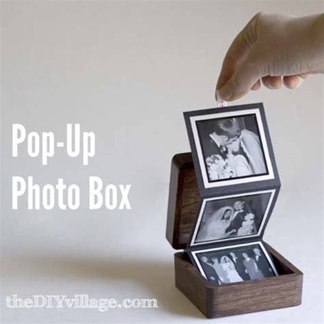 diy pop  photo box easy gift idea