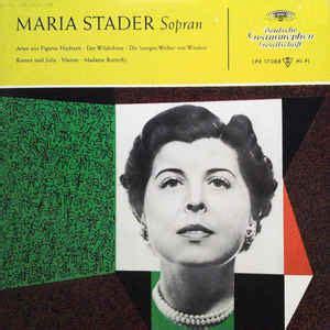 maria stader arien vinyl discogs