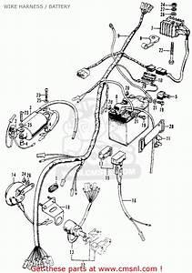 Honda Xl100 K1 1975 Usa Wire Harness    Battery