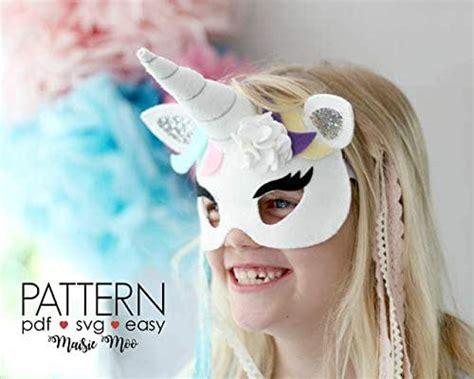 amazoncom felt unicorn mask pattern svg mask template