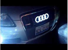 Audi A6 led badge glowing rings YouTube