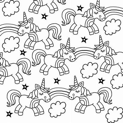Unicorn Colouring Pages Printable Coloring Children Books