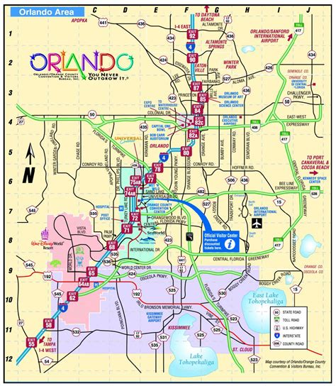 orlando florida map  attractions wiring library