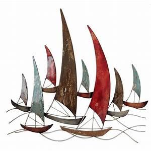 Sculpture Murale Design : decoration murale m tal bateaux voiliers d coration murale originale ~ Teatrodelosmanantiales.com Idées de Décoration