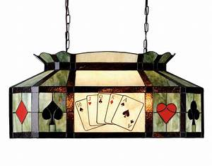 Meyda 81487 Texas Hold'Em Poker Oblong Hanging Lamp