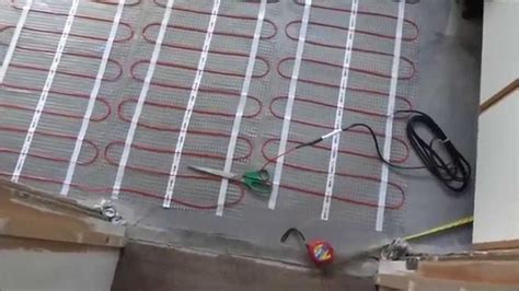 how to install underfloor heating and tile with large