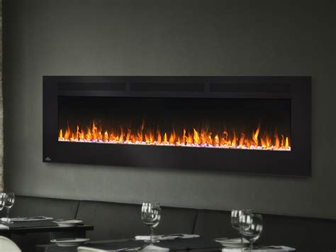 electric wall fireplace napoleon 72 in wall mount electric fireplace nefl72fh