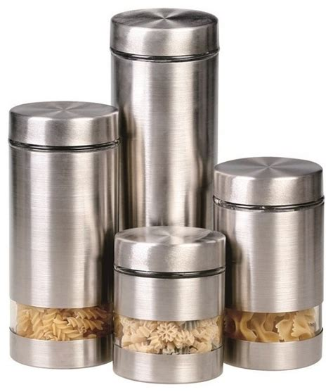 kitchen canisters and jars rotunda 4 canister set contemporary kitchen
