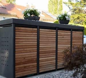 Mülltonnenbox Holz Anthrazit : 25 b sta m lltonnenverkleidung holz id erna p pinterest ~ Whattoseeinmadrid.com Haus und Dekorationen