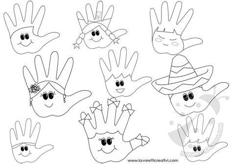 idee  accoglienza scuola mani da colorare