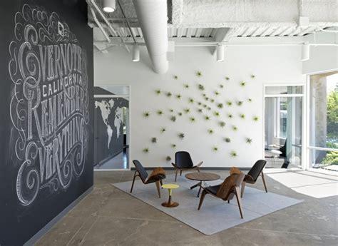 reception space chalk artistry company logo interior