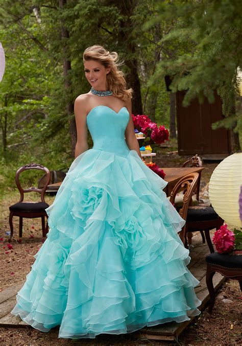 prom ballgown featuring  satin bodice style  morilee