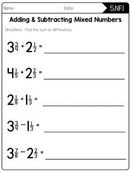 5th grade common math worksheet subtraction common math worksheets 5th grade by create teach