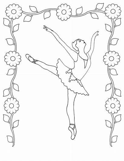 Coloring Pages Dance Ballet Dancer