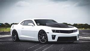 White sports car Chevrolet Camaro SS wallpapers and images ...