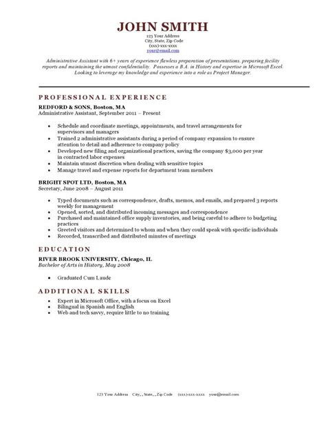 Preferred Resume Font by Expert Preferred Resume Templates Resume Genius