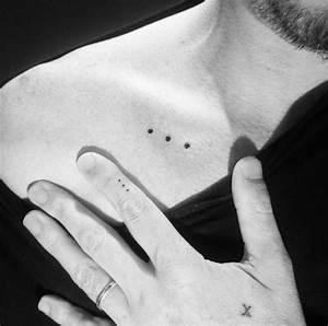 Tatouage 3 Points : 1001 id es mini tatouage l 39 cole du micro tattoo d 39 argent ~ Melissatoandfro.com Idées de Décoration
