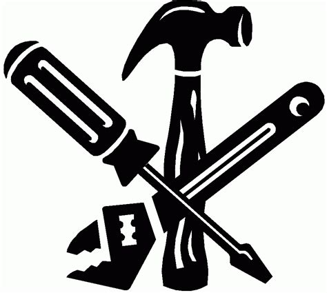 tool kit clipart black and white construction tools clipart black and white letters format