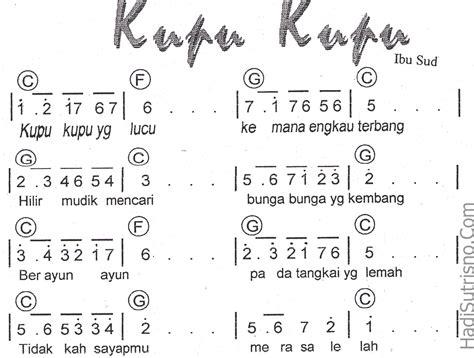 lagu wajib tanah airku dan not angka 7 koleksi not angka lagu anak anak not angka lagu terbaru