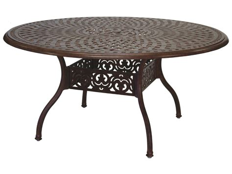 patio dining table darlee outdoor living series 60 cast aluminum 59