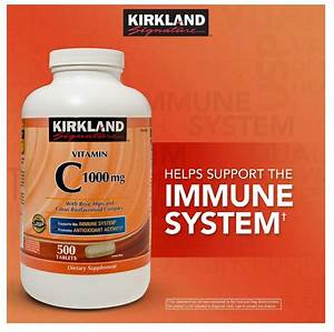 Kirkland Signature Vitamin C 1000 Mg 500 Tablets